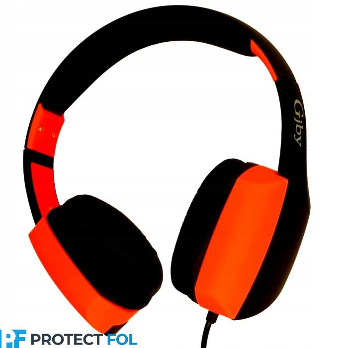 GJBY sztereó mikrofonos fejhallgató, headset, (GJ-24) (3,5mm jack), narancs