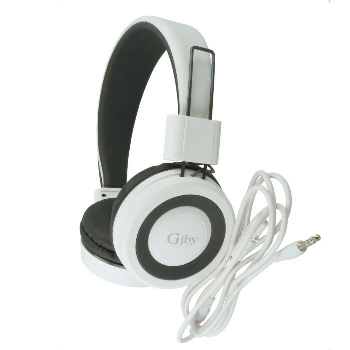 GJBY sztereó mikrofonos fejhallgató, headset, (GJ-14) (3,5mm jack), fehér