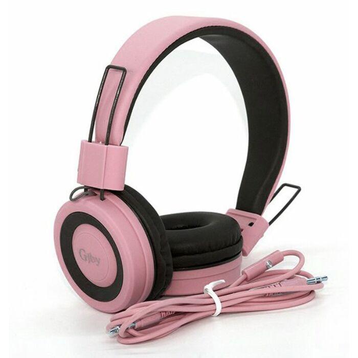 GJBY sztereó mikrofonos fejhallgató, headset, (GJ-14) (3,5mm jack), pink
