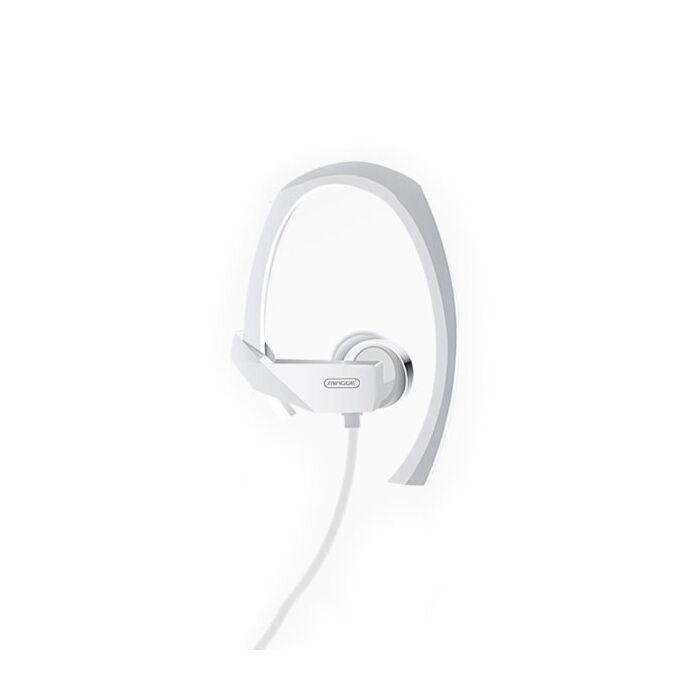 Mingge M23 sport vezetékes sztereó headset (3,5mm jack), fehér