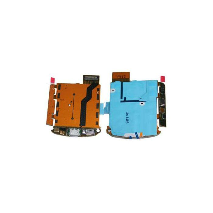 Nokia 6700c, gyári billentyűzet panel átvezető fólia töltőcsatlakozóval, mikrofonnal és rezgővel (Flex, szalagkábel)