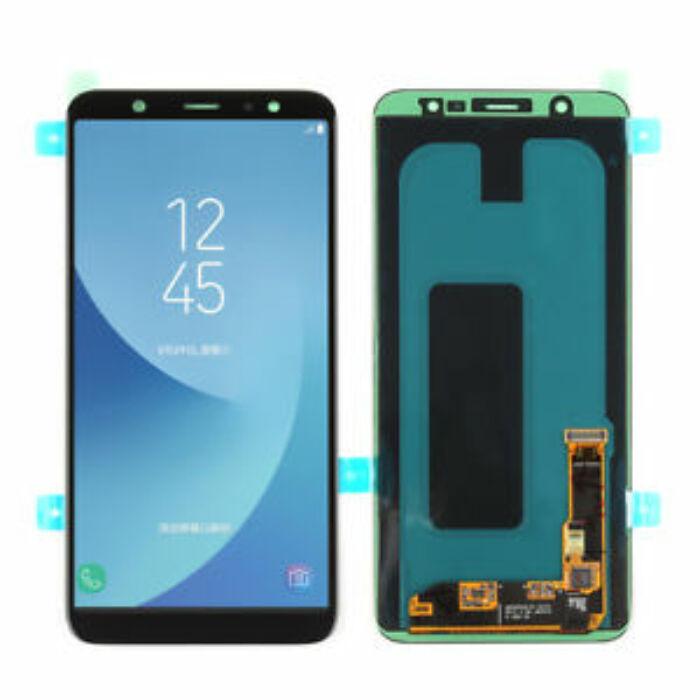 Samsung Galaxy A6 Plus (2018) (A605), eredeti, gyári LCD kijelző érintőpanellel (GH97-21878A), fekete