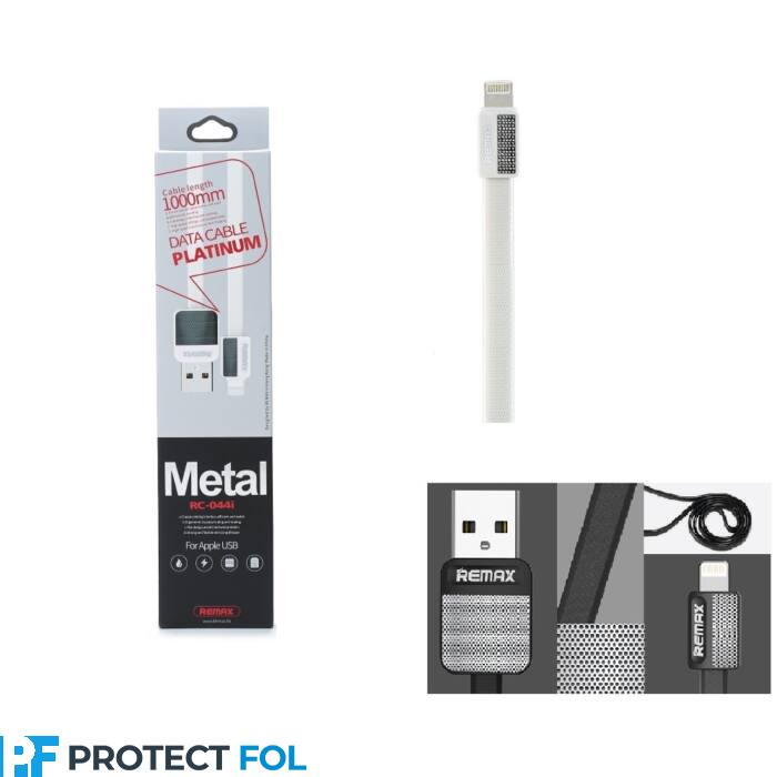 Remax Platinum Apple iPhone 5, 6, 7, 8, X, 11, lightning USB kábel 1M (RC-044i), fehér