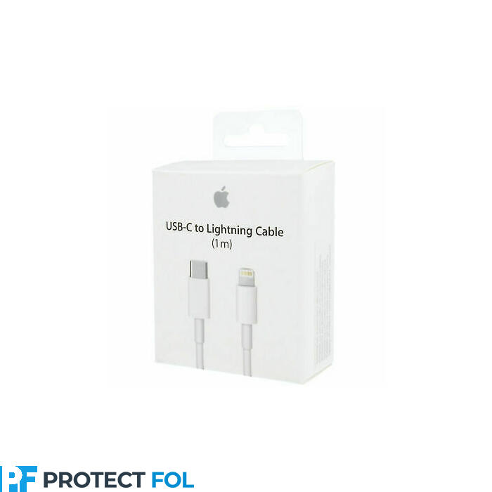 Eredeti, gyári lightning - Type-C kábel 1M, iPhone 5, 6, 7, 8, X, 11, 12 típusú készülékhez (MQGJ2ZM/A) (BLISTER), fehér