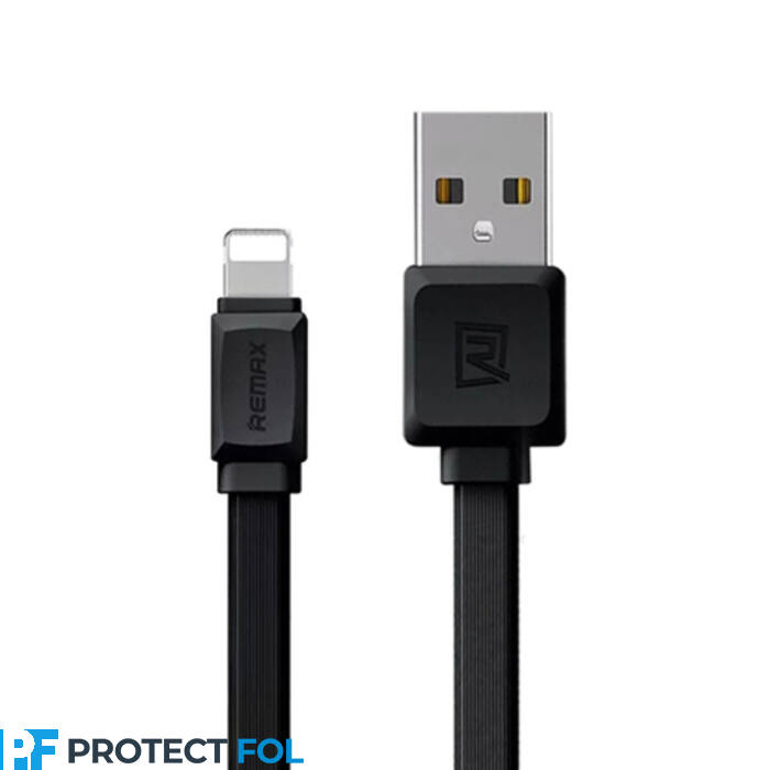 Remax Fast Pro 2,4A, Apple iPhone 5, 6, 7, 8, X, 11, lightning USB kábel 1M (RC-129i), fekete